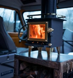 how to install a wood stove in a camper van [ 2048 x 1368 Pixel ]