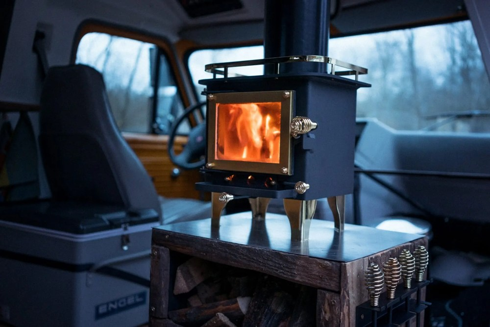 medium resolution of how to install a wood stove in a camper van