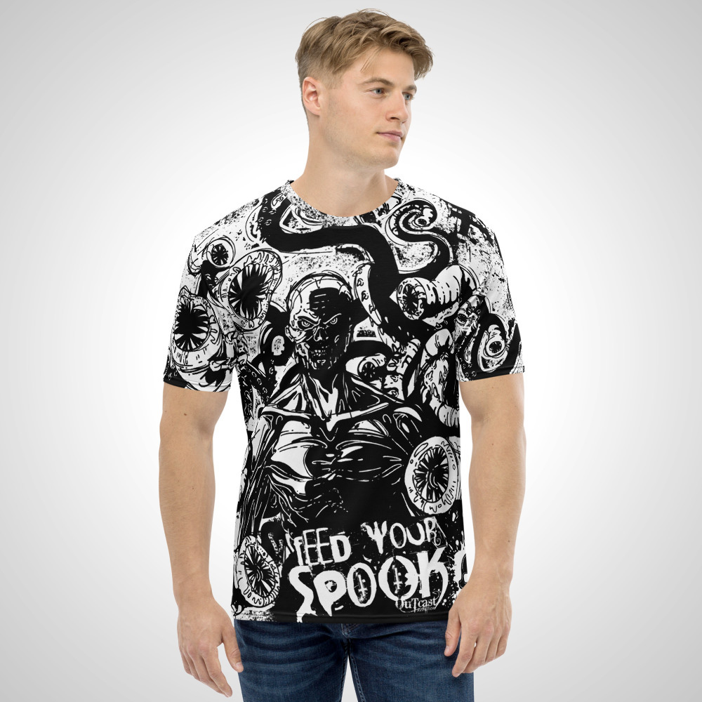 Feed Your Spook All Over Printed T-Shirt by Outcast Rebellion Front