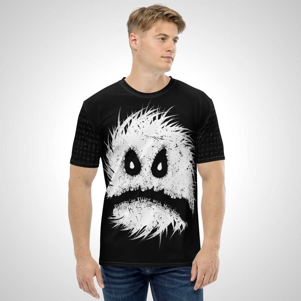 Dreams Be Filled With Monsters All Over Printed T-Shirt by Outcast Rebellion Front
