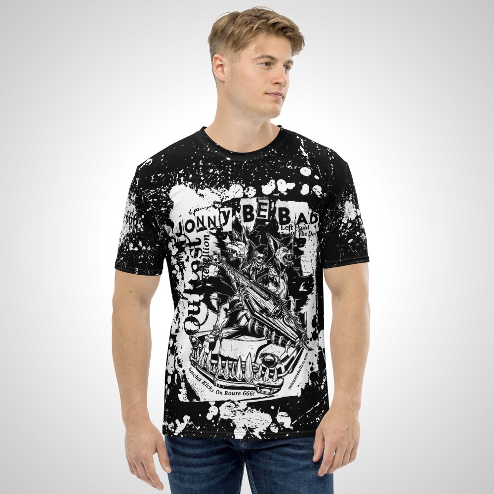 Jonnie Be Bad All Over Printed T-Shirt by Outcast Rebellion Front
