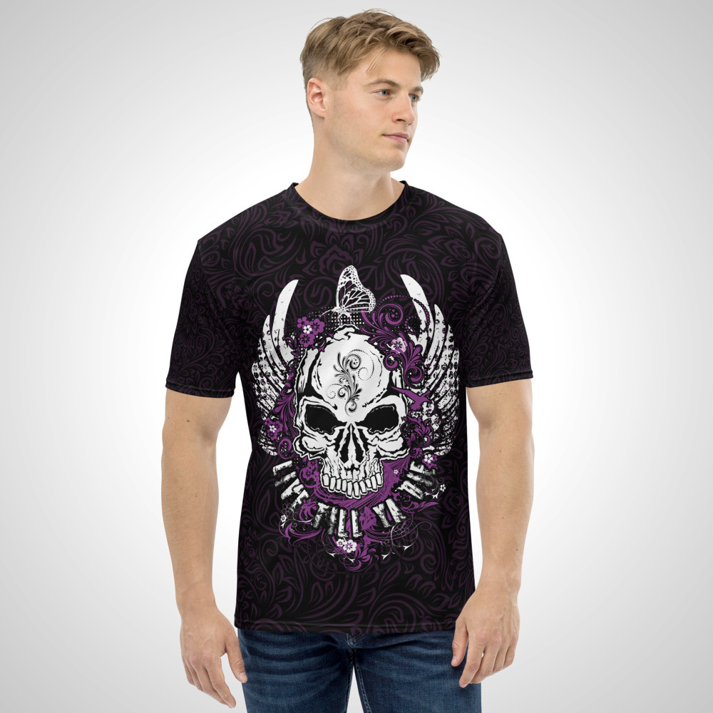 Live Till Ya Die All Over Printed T-Shirt by Outcast Rebellion Front