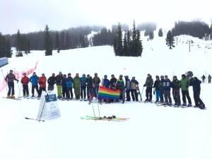 LGBTQ Ski Weekend Mt Bachelor Rainbow Group 2