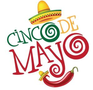 Cinco De Mayo cartoon image of a sombrero and chili pepper