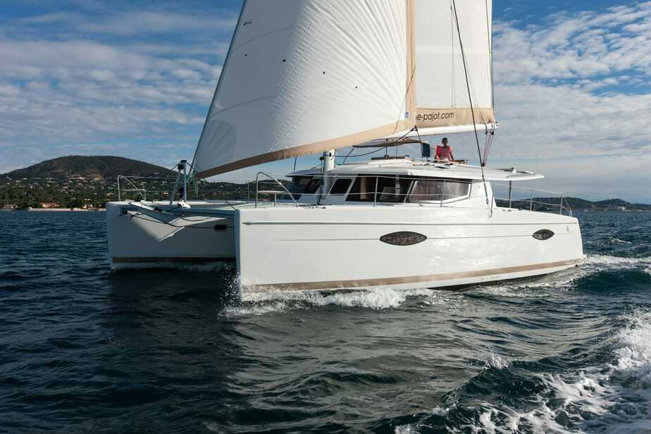 Helia 44 Under Sail - Port Side