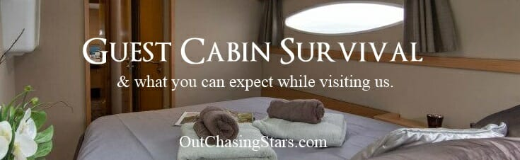 Your guest room awaits aboard Starry Horizons!