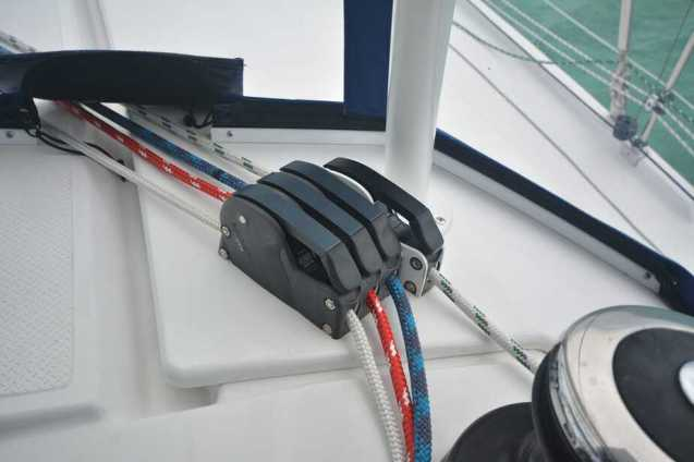 New Rigging Lines at Helm
