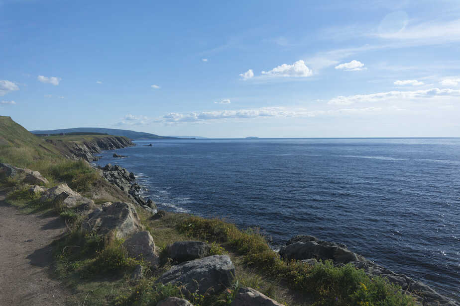 Scenic coastline on Canada's Cabot Trail.