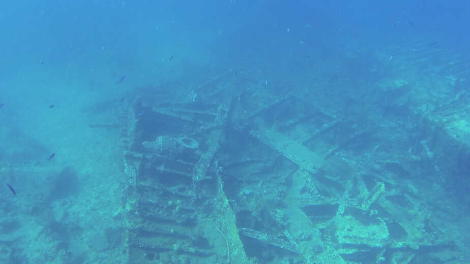 The wreck of the Rhone in the British Virgin Islands.