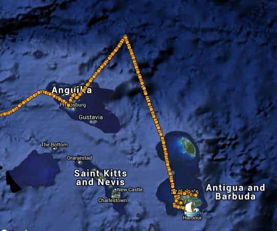 Sailing to Antigua