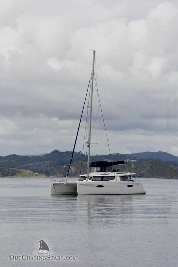Starry Horizons a Fountaine Pajot Helia 44 at anchor in New Zealand.