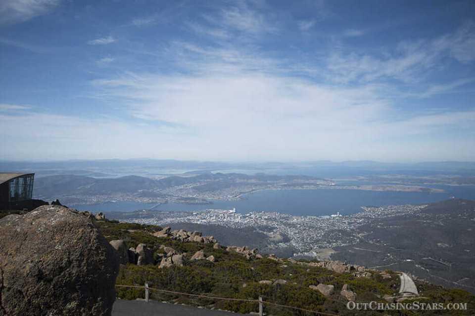 The view of Mount Wellington, over Hobart Tasmania.