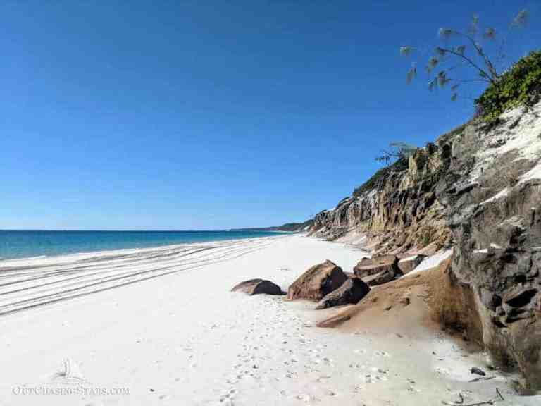 Crossing Wide Bay Bar and Gunkholing Fraser Island
