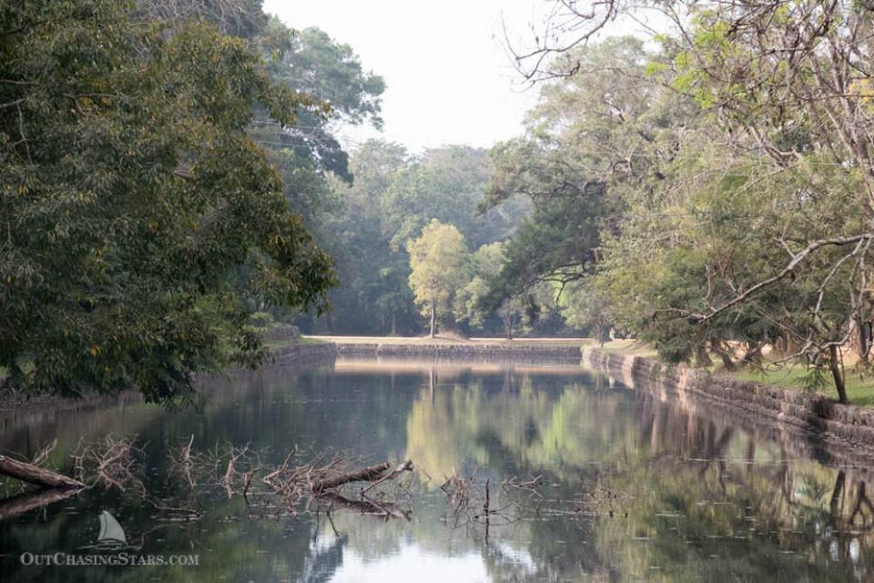 Inner moat of Sigiriya's rock fortress grounds.