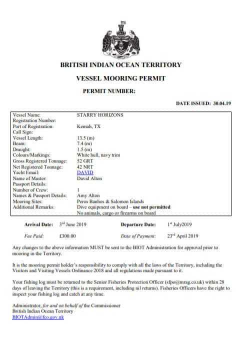 Applying for a Permit to Chagos (BIOT)