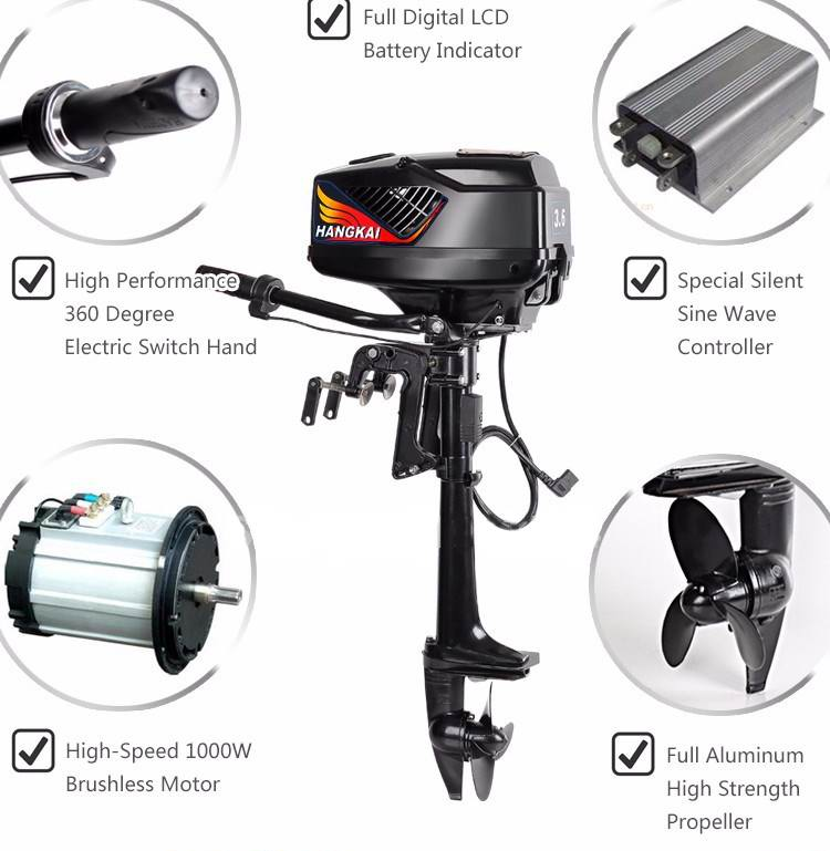 48v 5Hp Electric Outboard Motor