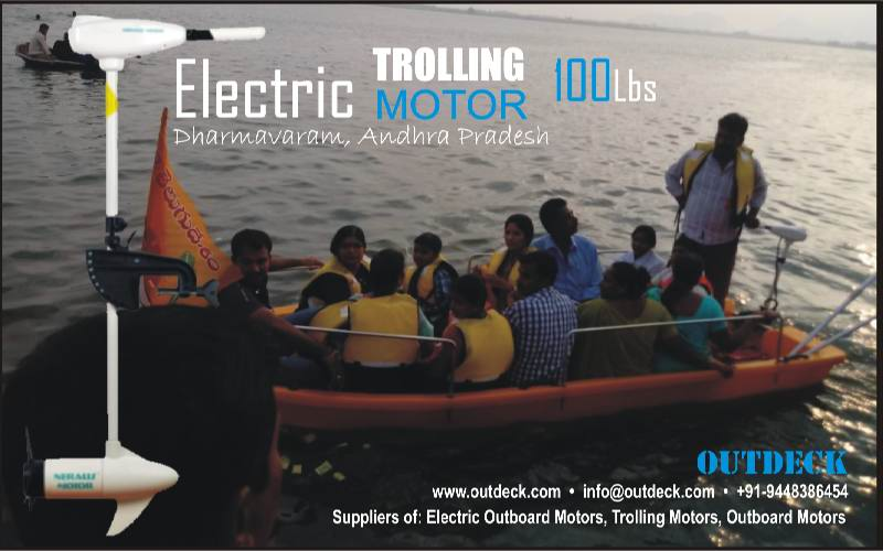 24v 100Lbs Electric Trolling Outboard Motor