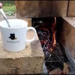 焚き火でモーニングコーヒー【ロケットストーブ】山暮らし女子の庭キャンプ
