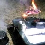 凍る夜、キャンプ場から行くキャンプ来るキャンプライブ放送