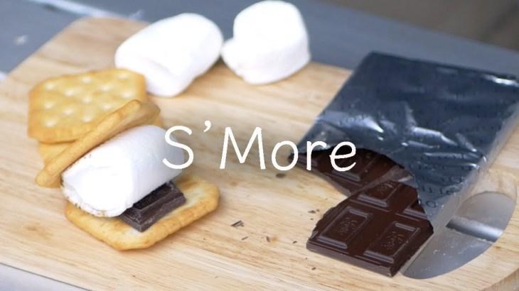 【シングルバーナー】 マシュマロ焼いてスモアを作る[キャンプ料理] Make a S'More
