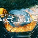 【アウトドア】森のたき火で極厚ステーキを焼く!!【キャンプ】