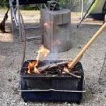 せいなの森キャンプ 炭火着火