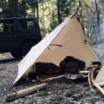 New shelterの試作とミニマムソロキャンプ  (Part43) solo camping minimum equipment.