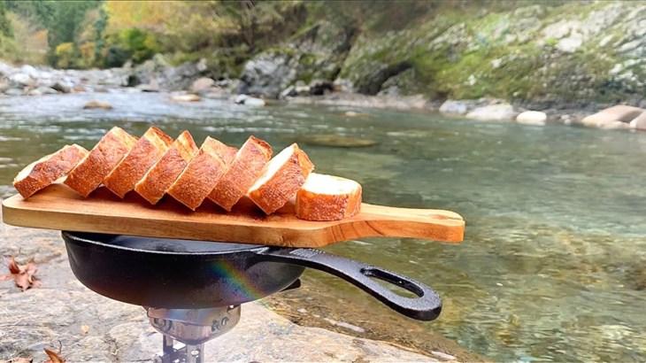 【料理】フランスパンを食べながら川のせせらぎを感じる【キャンプ飯】