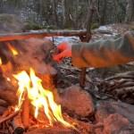 【残雪のバックパックソロキャンプ】【ブッシュクラフト】【一の瀬高原キャンプ場】【Bushcraft  back pack camping】