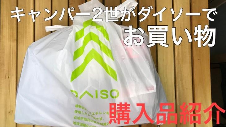 【ダイソー購入品紹介】2世だけど超絶初心者/ソロキャンプ/キャンプ/アウトドア