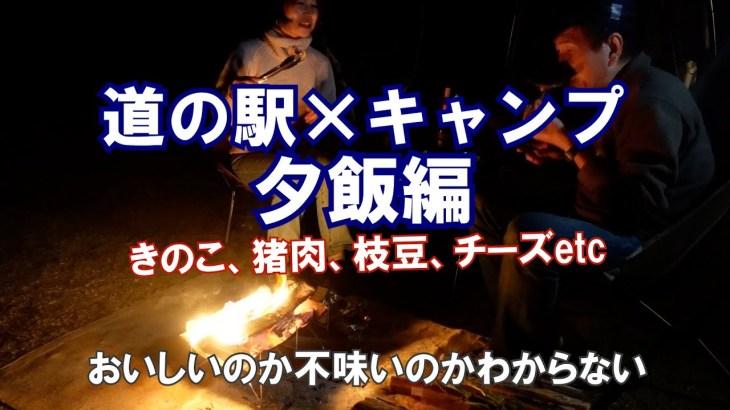 【道の駅×キャンプPart2】 夕飯編 夫婦キャンプ 道の駅食材イノシシ肉堪能