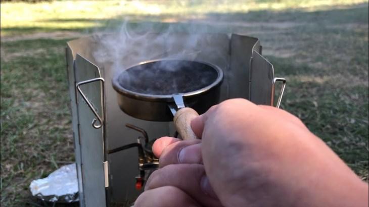 お昼にアウトドア珈琲焙煎してみた(焙煎はノーカットです)