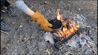 【焚火料理】焚き火でお米を炊く【簡単キャンプ飯】