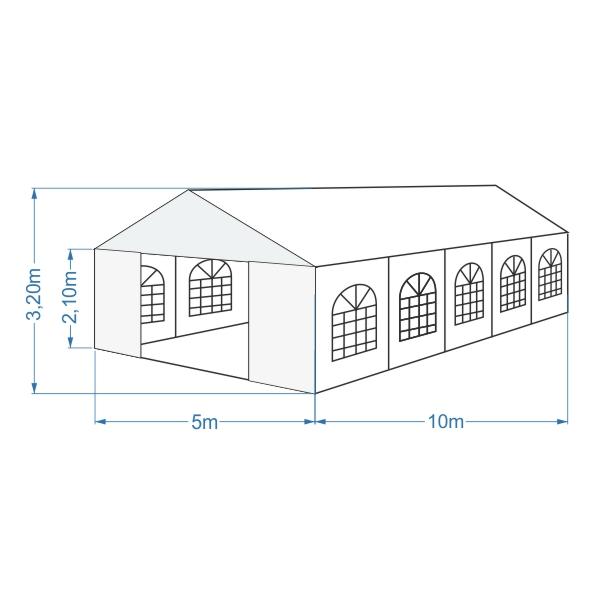 namiot bankietowy 5x10