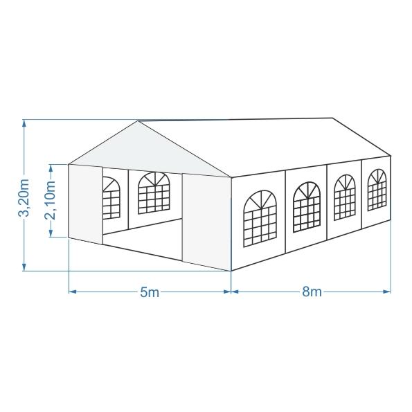 namiot bankietowy 5x8