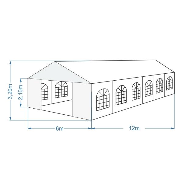 namiot bankietowy 6x12