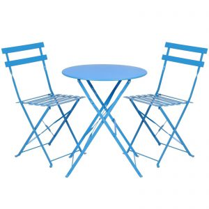 3 piece outdoor table and chairs upholstered office chair folding metal bistro set reviews patio sets best choice products comes with a round two that are made from powder coated steel frame structure which is