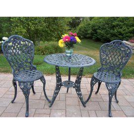 rose 3 piece bistro patio sets