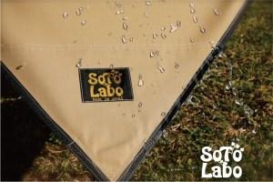 SOTO Labo(ソトラボ) cotton kokage tarp 撥水性
