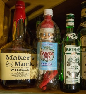 Elf magically apparated in the drinks cupboard, unfortunately in a bottle.