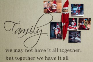 Elf on the shelf family photo board