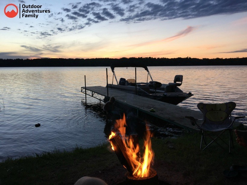 lakeside camp site at akeley mn campground