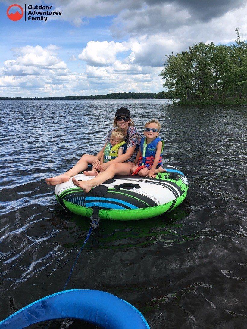 Tubing adventures with young kids