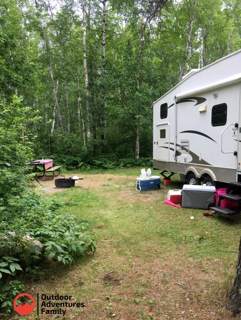 Zippel Bay Campground site