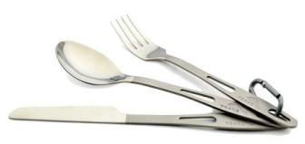 TOAKS Titanium 3-Piece Cutlery Set - best camping utensils
