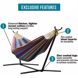 features of vivere double hammock