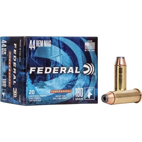 Federal Premium Power Shok   44 Remington Magnum 180-Grain Handgun Ammunition