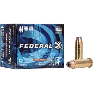 Federal Premium Power Shok | 44 Remington Magnum 180-Grain Handgun Ammunition