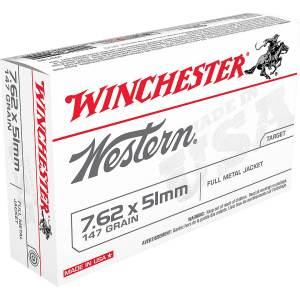 Winchester Western 7.62 x 51 mm 147-Grain Centerfile Rifle Ammunition