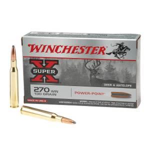 Winchester Super-X Power-Point .270 Winchester | 130-Grain | Rifle Ammunition